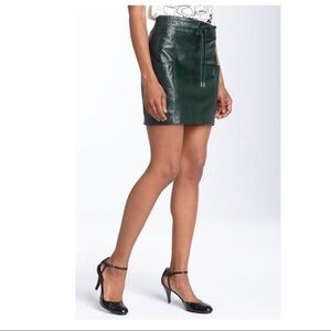 Marc by Marc Jacobs Green Leather Mini Skirt 💚